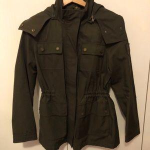 Ralph Lauren olive green waterproof parka raincoat